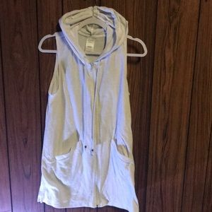 Catalina white terry cloth cover up